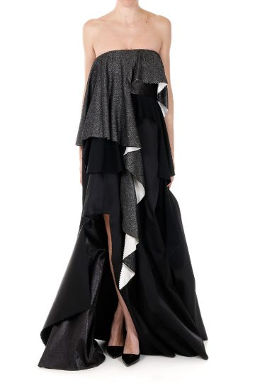 Long Dress Asymmetric Cut
