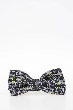 MONSIEUR Patterned Silk Bow Tie