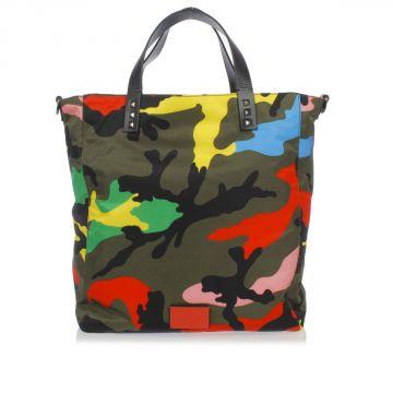 Borsa Shopping in Tessuto Camouflage