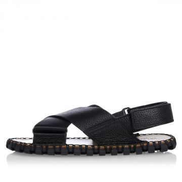 Leather Crossed Sandals
