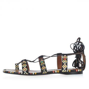 Sandalo in Pelle Fantasia Etnica