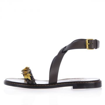 Leather Sandals with Applications