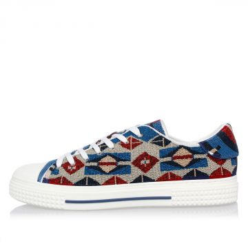 Sneakers Ricamate con Perline