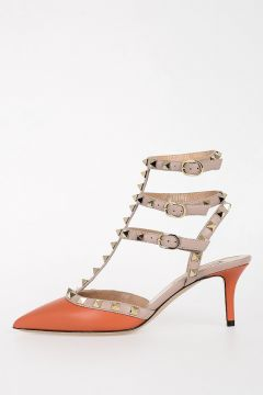 6cm Leather Sandals with Studs