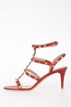 8cm Leather Sandals with Studs