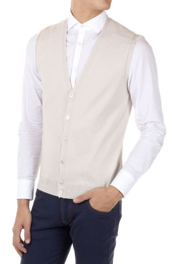 Cashmere and Woll Mixed Vest