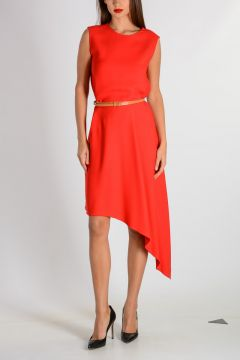 SWING DRAPE Dress with Belt