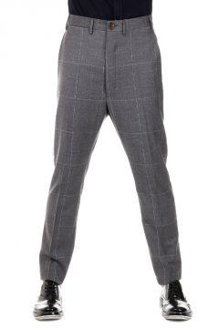 Pantaloni a Quadri in Lana