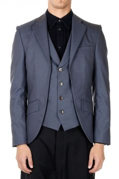 Blazer Regular Slim in Lana Vergine