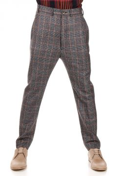 Pantaloni Low Crotch a Quadri