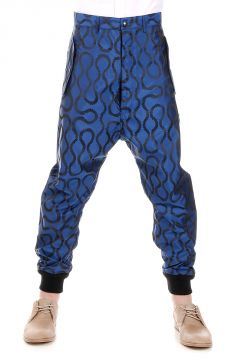 Printed Low Crotch Trousers