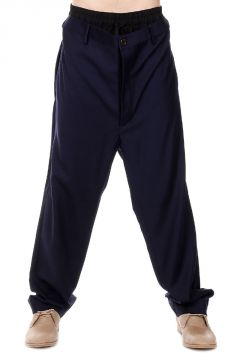 Elastic Waist Low Crotch Trousers