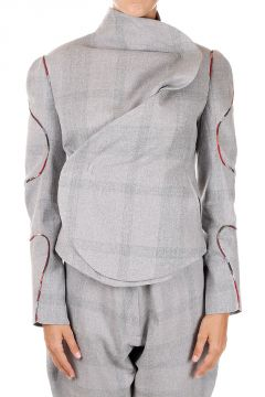 Cotton & Wool Asymmetric Jacket