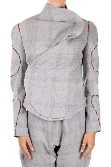 Cotton & Wool Asymmetric Jacket