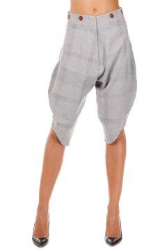 Pantalone in Cotone e Lana Vergine