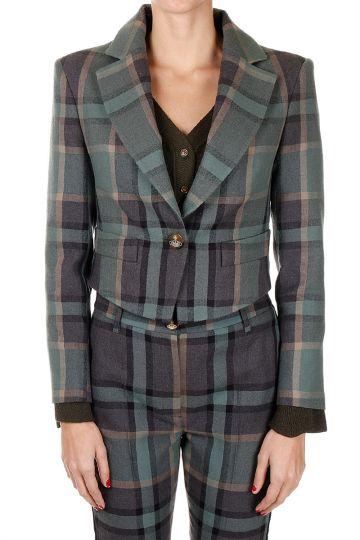 Short Mixed Cotton & Wool Jacket