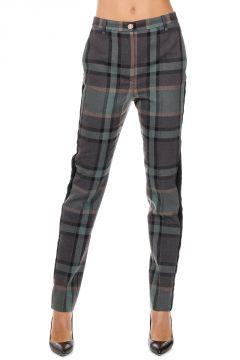 Pantaloni in Misto Lana Vergine con Fasce Laterali in Ciniglia