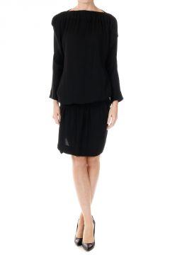 Virgin Wool Blend Long Sleeve Dress