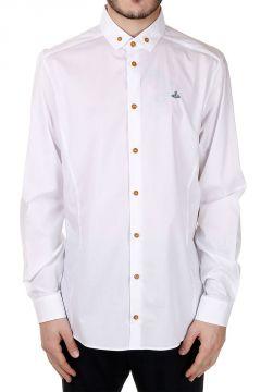 Camicia Elasticizzata in Popeline Button-Down