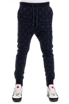 Pantaloni Jogging Ricamati in Cotone