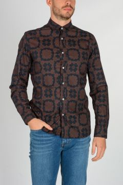 ANGLOMANIA Cotton Printed Shirt