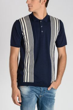 Merino Wool Knitted SCOTT Polo Shirt