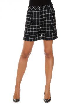Checked Printed Wool Shorts