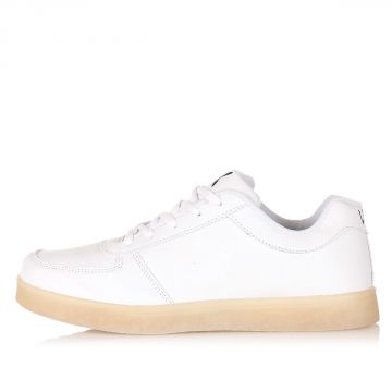 Sneakers THE LIGHT WHITE in Pelle
