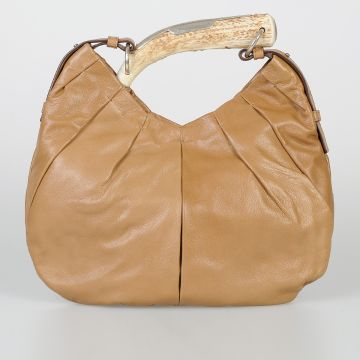 RIVE GAUCHE Leather Bag with Horn Handle