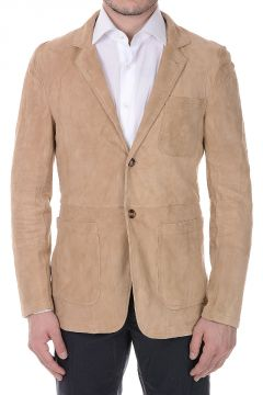 Suede Leather Blazer