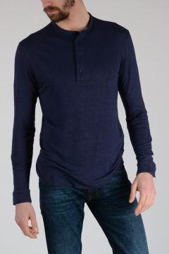 Z ZEGNA Linen Long Sleeves Polo