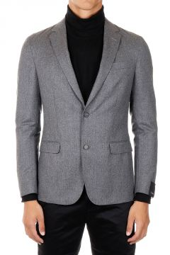 Giacca SHIRT JACKET Monopetto in Lana