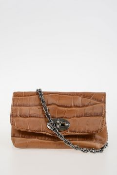 Leather POSTINA XS CROCO' Bag