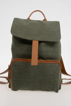 Canvas ILDO Backpack with Leather Details