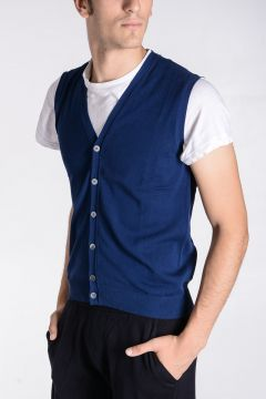 Cotton Sleeveless Cardigan