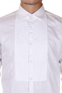 Camicia ANTONIO in Popeline di Cotone con Dettaglio Frontale