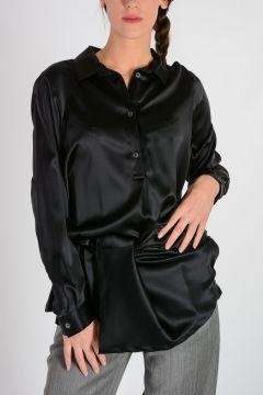 Silk Blend Asymmetrical Blouse
