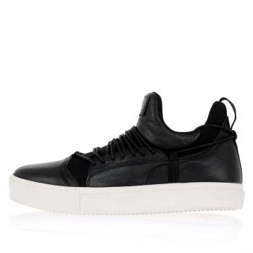 Sneakers in Pelle e Tessuto Tecnico