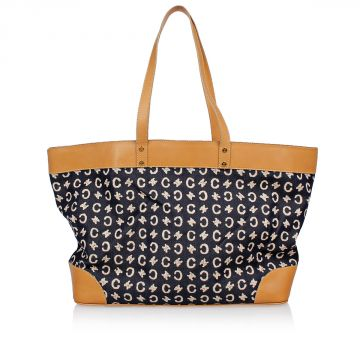 Maxi Shopping Bag in Leather and Denim