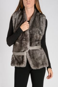 Vison Fur Jacket Sleeveless