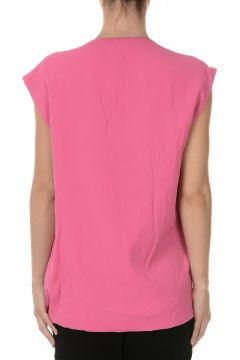 Silk Sleeveless Long top