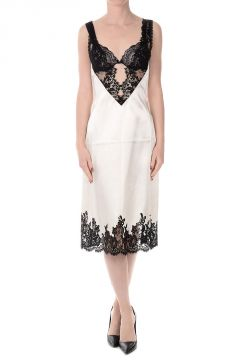 Cupro Embroidered Dress