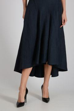 Mixed Linen Long Skirt