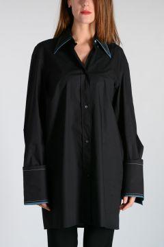 Camicia in Cotone Bicolor