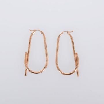 Barbelé Hoop Earrings in Rose Gold Brass