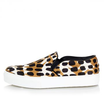 Slip On Sneakers with Animalier Print