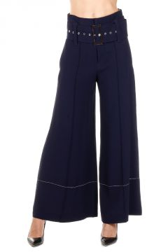 Bell Bottom Trousers with Belt
