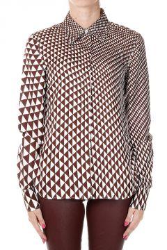 Camicia in Seta a Fantasia Geometrica