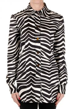 Zebra Printed Silk Coat