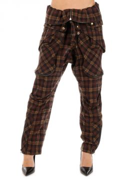 Mixed Wool Plaid Pants